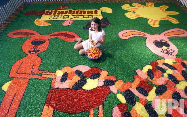 Guinness World's Record for largest jellybean art