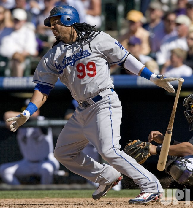 Dodgers Ramirez Singles Against the Rockies in Denver