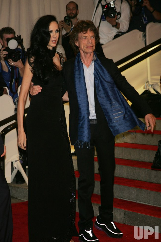 Mick Jagger arrives for the Metropolitan Museum of Art's Costume Institute Gala in New York