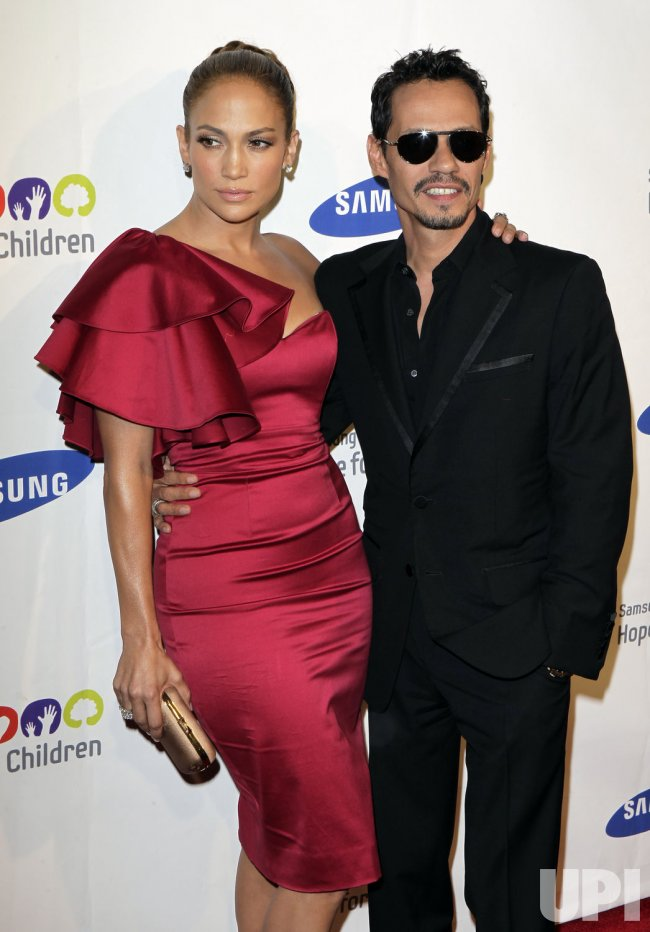 Jennifer Lopez and Marc Anthony arrive at the Samsung Hope for Children gala at Cipriani on Wall Street in New York