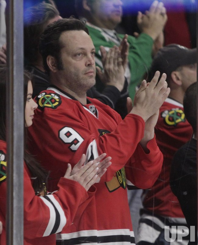 Actor Vaughn watches Chicago Blackhawks game in Chicago