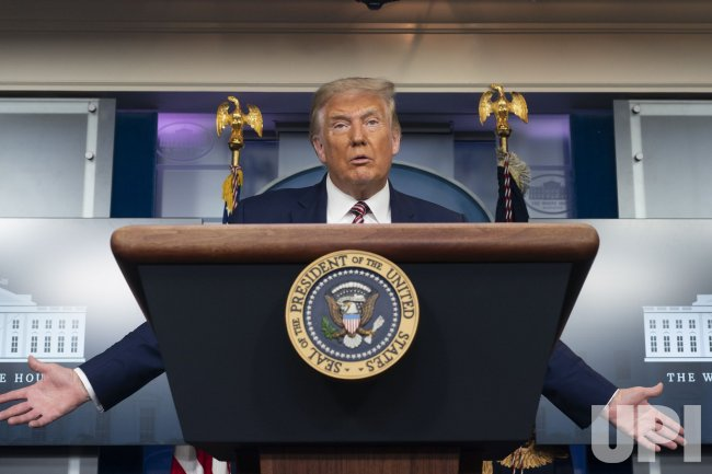 President Donald Trump Holds a News Conference in Washington