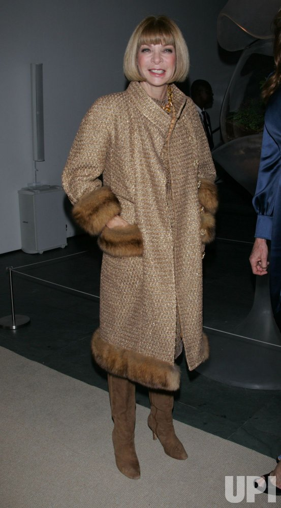 Anna Wintour arrives for the Museum of Modern Art Film Benefit tribute to Kathryn Bigelow in New York