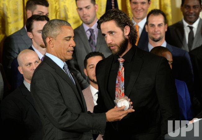 Obama Hosts San Francisco Giants at White House