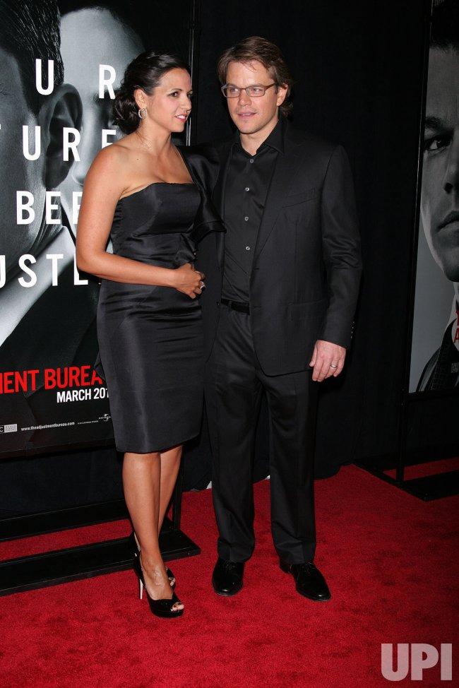 "Matt Damon arrives for ""The Adjustment Bureau"" Premiere in New York"