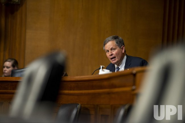 Steve Daines speaks during a hearing in Washington DC