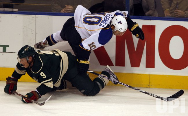 St. Louis Blues Andy McDonald and Minnesota Wild Mikko Koivu