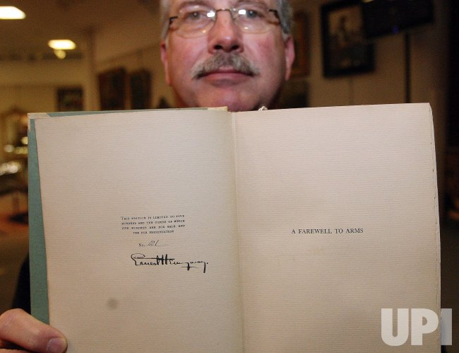 First editon Hemingway book to be auctioned in St. Louis