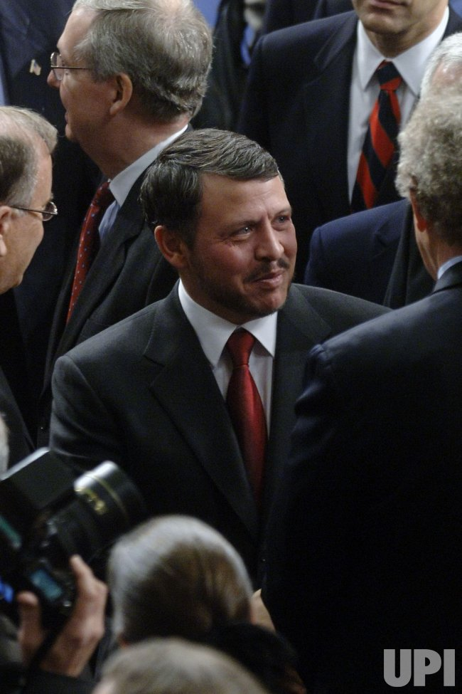 KING ABDULLAH II OF JORDON SPEAKS TO CONGRESS IN WASHINGTON