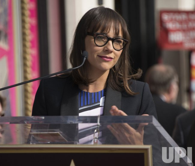 Rashida Jones speaks at a ceremony where Amy Poehler receives star on the Hollywood Walk of Fame
