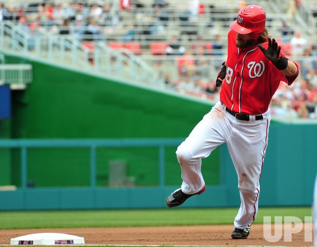 Nationals' Jayson Werth runs the bases in Washington