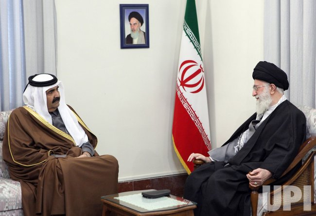 Iranian's Supreme Leader Ayatolah Khamenei meets with Emir of Qatar