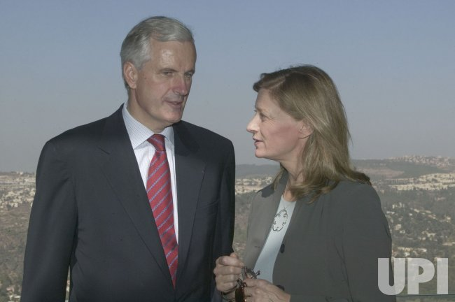 FRENCH FM BARNIER IN ISRAEL