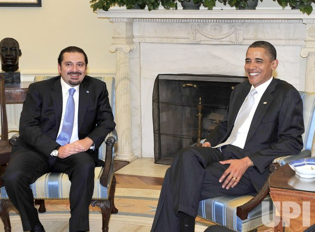 Prime Minister Saad Hariri of Lebanon meets with President Obama in Washington