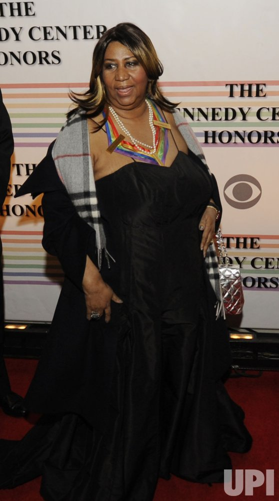 Aretha Franklin arrives at Kennedy Center Honors in Washington
