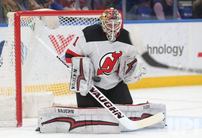 New Jersey Devils goaltender Keith Kinkaid - UPI com