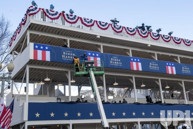 Preparations for the Inauguration near the White House