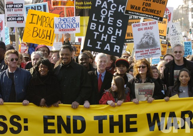 TENS OF THOUSANDS PROTEST THE IRAQ WAR IN WASHINGTON