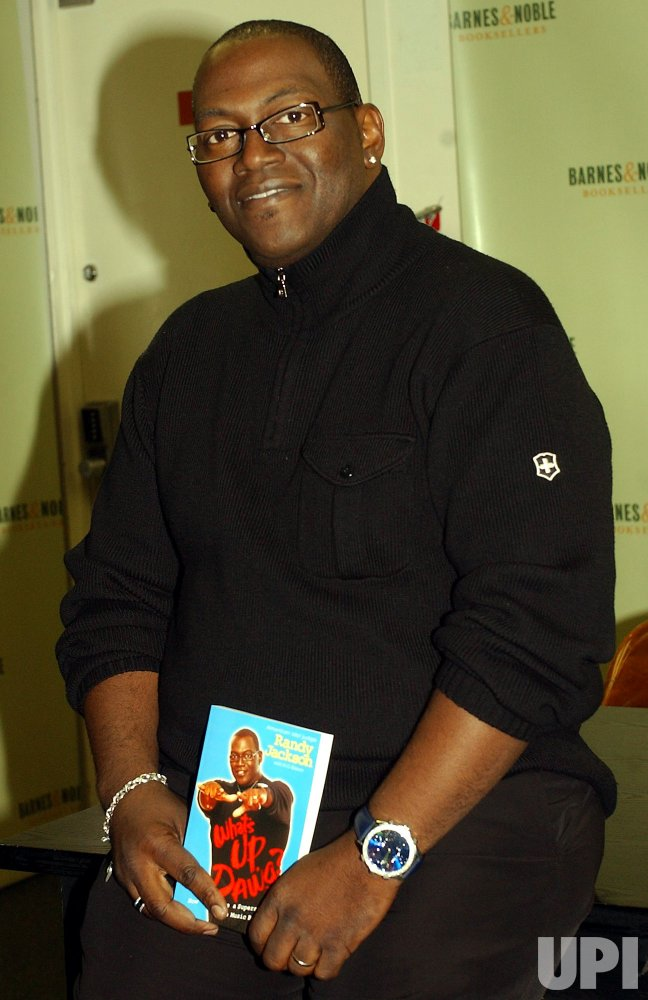 RANDY JACKSON OF TV SERIES AMERICAN IDOL PROMOS HIS BOOK
