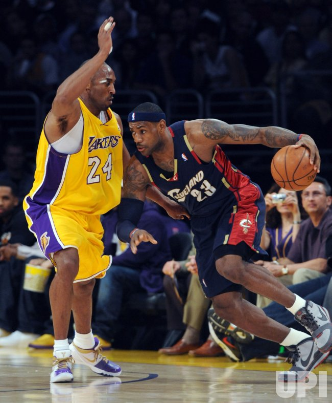 Los Angeles Lakers vs Cleveland Caviliers in Los Angeles