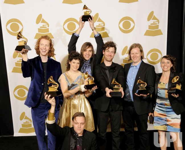 Arcade Fire wins Album of the Year at the 53rd Grammy Awards in Los Angeles