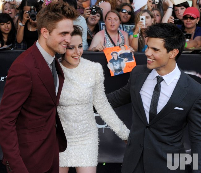 "Robert Pattinson, Kristen Stewart and Taylor Lautner attend the ""The Twilight Saga: Eclipse"" premiere in Los Angeles"