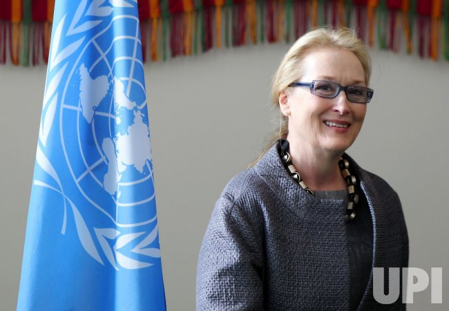 "Meryl Streep at the ""Women Can't Wait"" human rights event at the UN in New York"