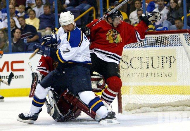 Chicago Blackhawks vs St. Louis Blues hockey