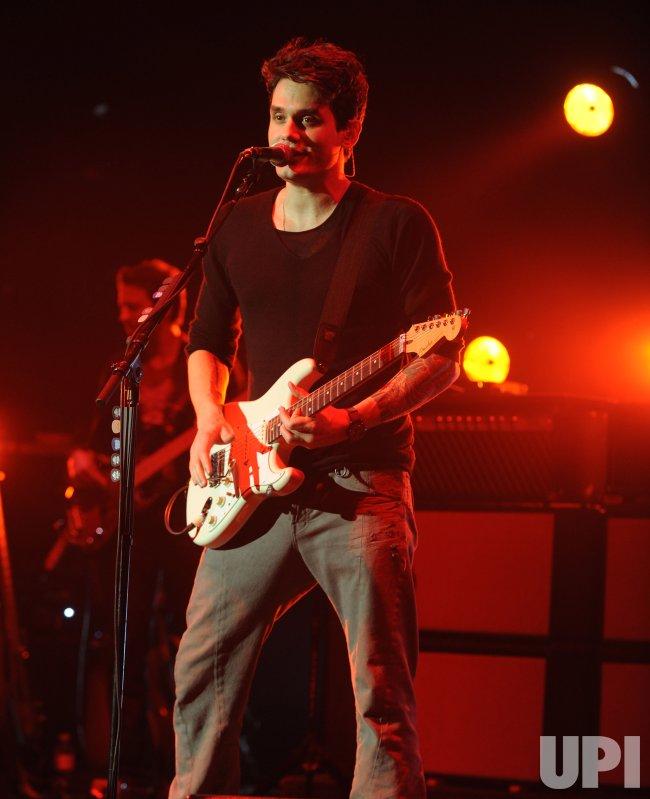 John Mayer performs in London