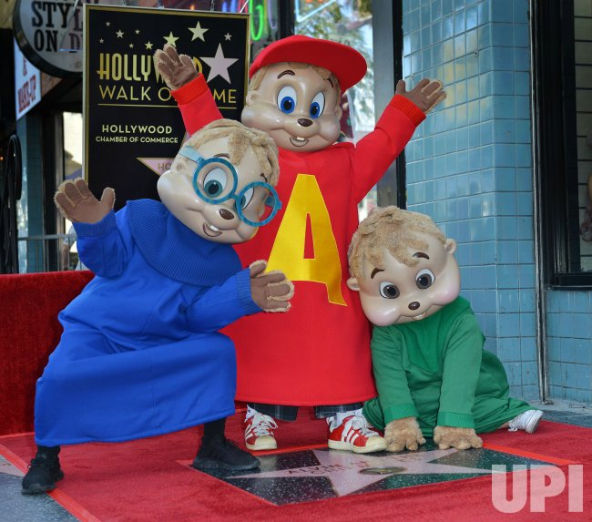 alvin and the chipmunks receive star on hollywood walk of fame. Black Bedroom Furniture Sets. Home Design Ideas