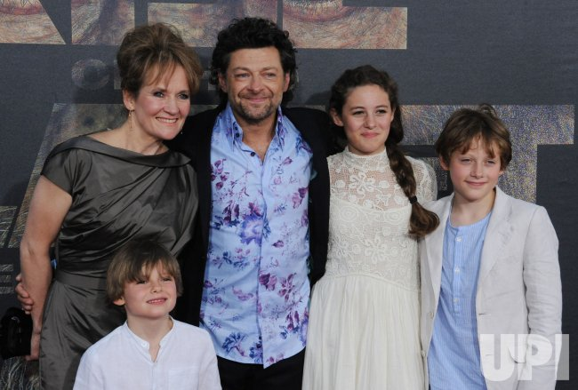 "Andy Serkis and his family attend the ""Rise of the Planet of the Apes"" premiere in Los Angeles"