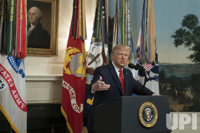President Donald Trump Makes a Statement at the White Houseon