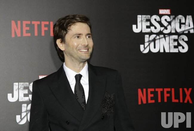 David Tennant arrives at Jessica Jones premiere