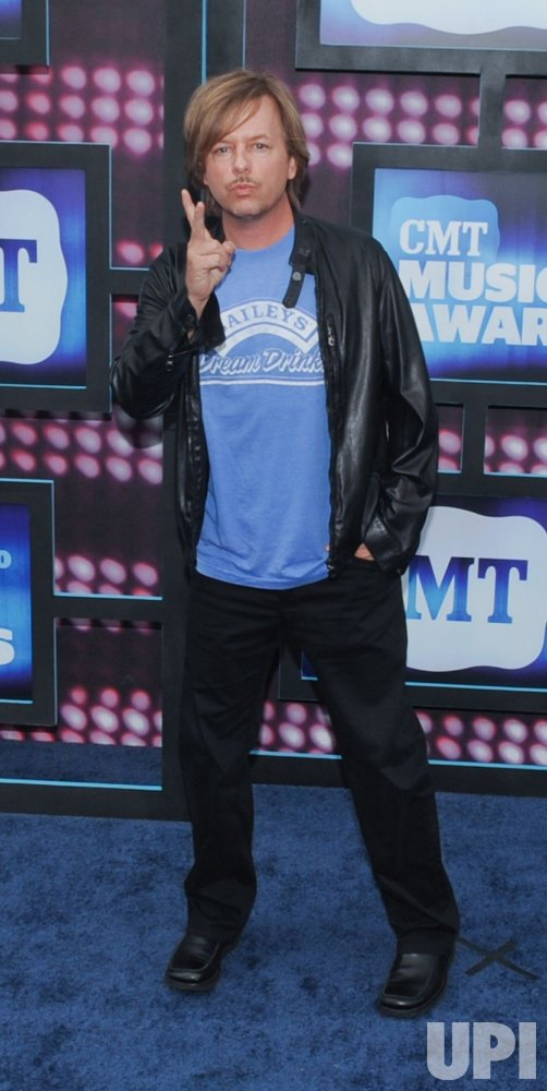 David Spade arrives at the CMT Awards in Nashville