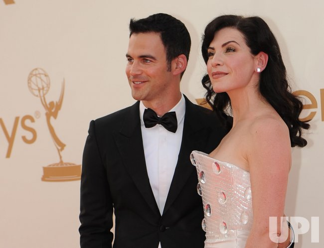 Keith Lieberthal and Julianna Margulies arrive at the Primetime Emmy Awards in Los Angeles