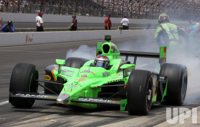 Indycar Driver Danica Patrick Pits During Indy 500