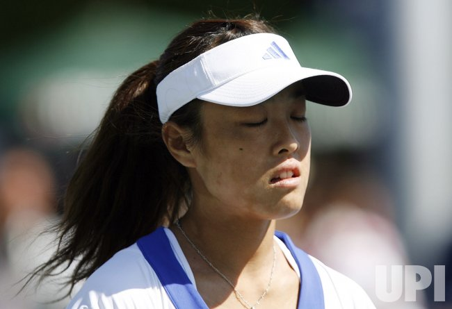 Ayumi Morita plays Sorana Cirstea in the first round at the US Open Tennis Championships in New York