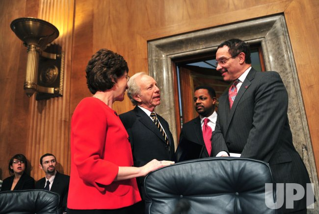 D.C. Mayor Vincent Gray and D.C. Council Chairman Kwame Brown on Capitol Hill in Washington