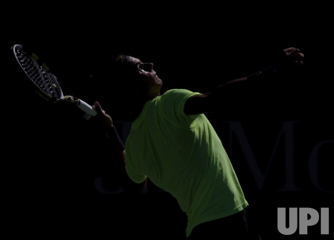 Rafael Nadal of Spain at the U.S. Open Tennis Championships in New York