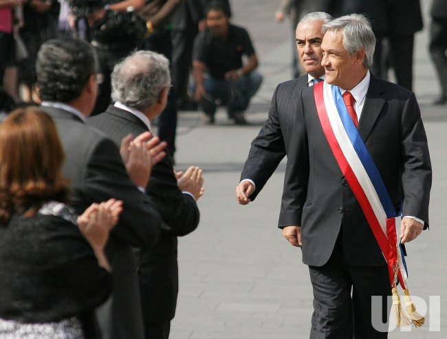 Chilean President Sebastian Pinera takes office in Santiago