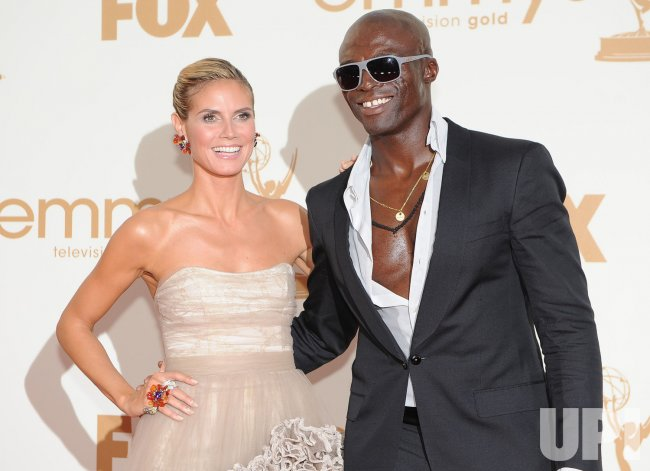 Heidi Klum and Seal arrive at the Primetime Emmy Awards in Los Angeles