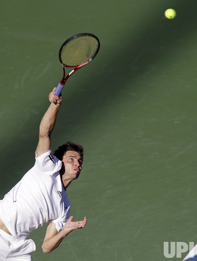 Gilles Simon at the U.S. Open Tennis Championships in New York