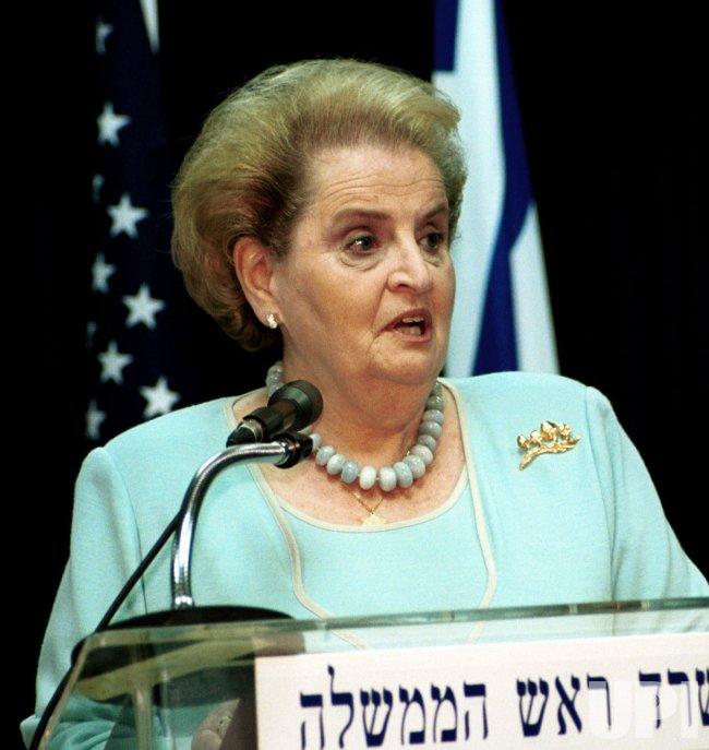 US Secretary of State Madeleine Albright meets Israeli Prime MInister Ehud Barak in Jerusalem