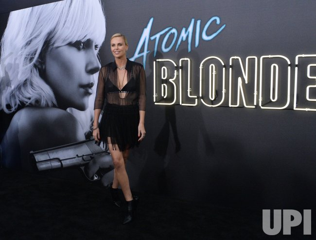 """Charlize Theron attends the """"Atomic Blonde"""" premiere in Los Angeles"""