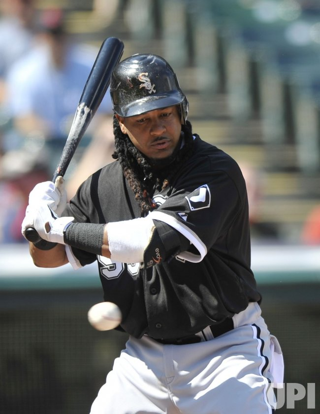 Manny Ramirez Of White Sox Takes A Pitch