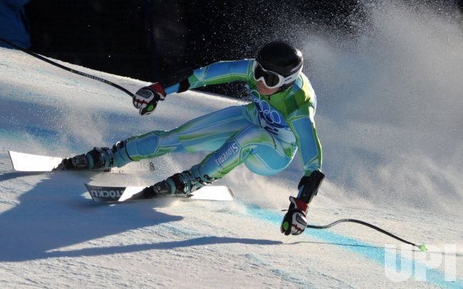 Slovenia's Tina Maze wins silver in the Ladies' Super-G in Whistler