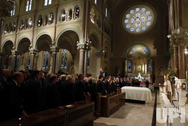 Cardinal Sean O'Malley presides over funeral services for U.S. Senator Edward Kennedy in Boston