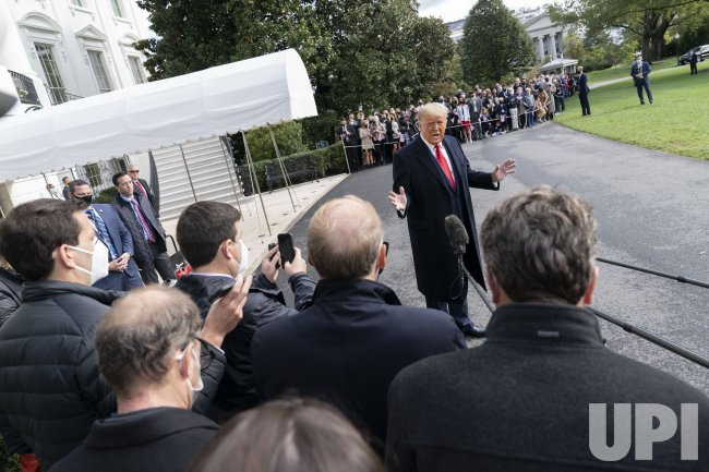President Donald J. Trump departs the White House
