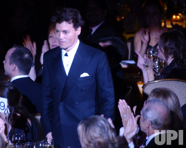 ACTOR JOHNNY DEPP HONORED BY THE ACTORS' FUND OF AMERICA