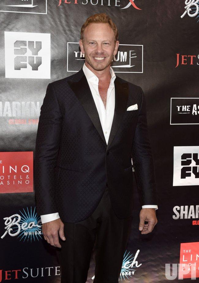 """Ian Ziering attends the """"Sharknado 5: Global Swarming"""" premiere in Las Vegas"""